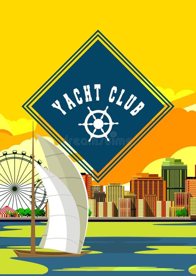 Inseto do yacht club ilustração stock