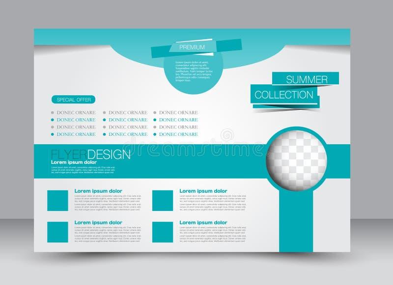 Inseto, folheto, orientação da paisagem do projeto do molde de capa de revista ilustração do vetor