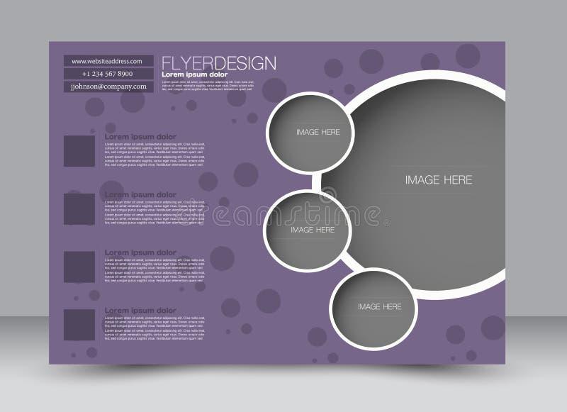 Inseto, folheto, orientação da paisagem do projeto do molde de capa de revista ilustração royalty free