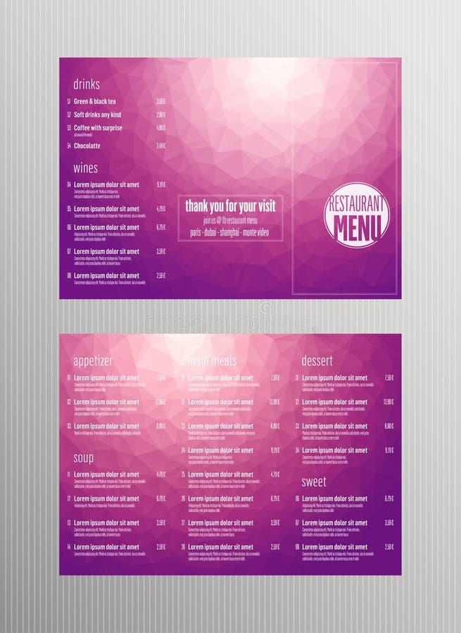Inseto, menu do restaurante ilustração stock