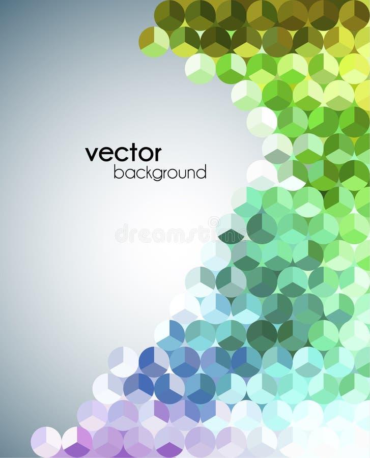 Inseto moderno do mosaico abstrato ilustração do vetor