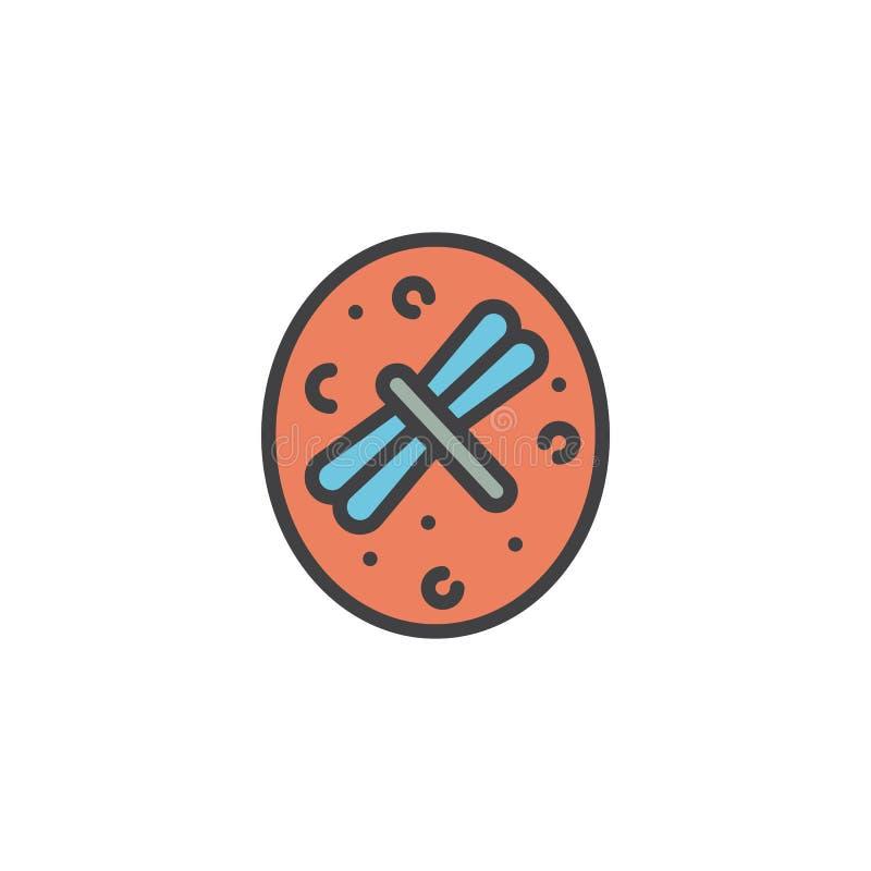 Inseto secado no ícone enchido âmbar do esboço ilustração do vetor