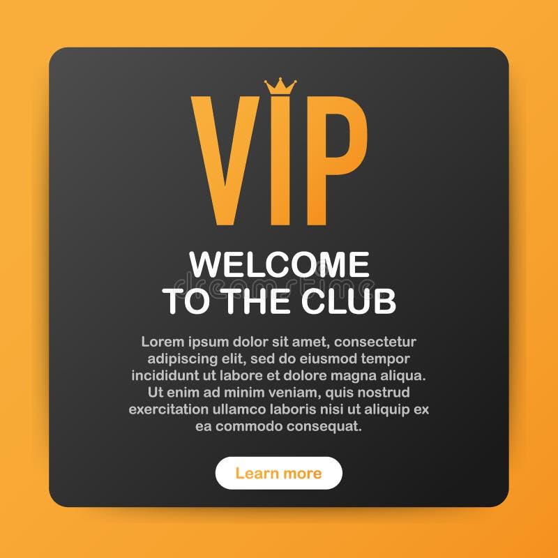 Inseto superior do cartaz do cartão do convite do partido do clube do VIP Molde preto e dourado do projeto Ilustração do vetor ilustração royalty free