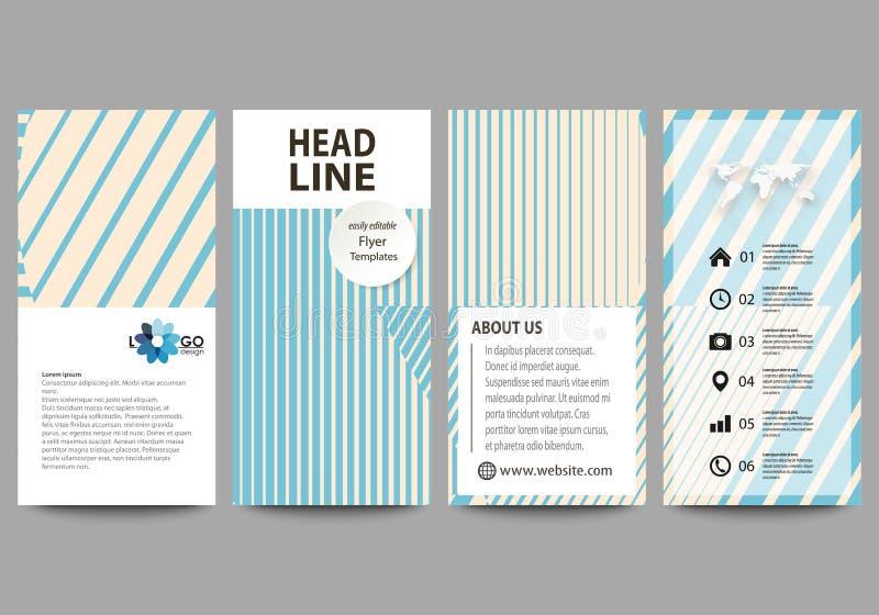 Insetos ajustados, bandeiras modernas Moldes do negócio Molde de tampa, disposições abstratas editáveis fáceis do vetor minimalis ilustração do vetor