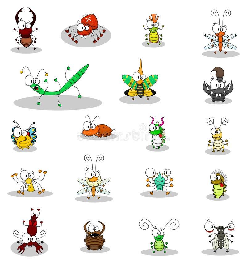 Insetos dos desenhos animados ilustração royalty free