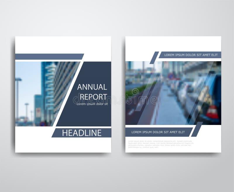 Insetos modernos abstratos folheto, moldes do projeto do informe anual, projeto da disposição da capa do livro ilustração stock
