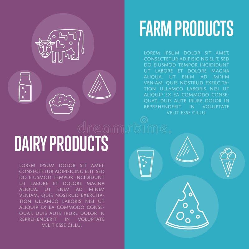 Insetos verticais dos produtos agrícolas ajustados ilustração do vetor