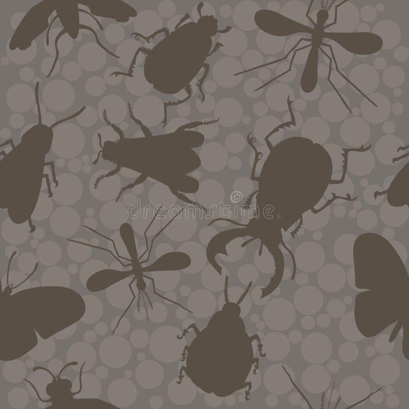 insetti Ape scarabei zanzara illustrazione di stock