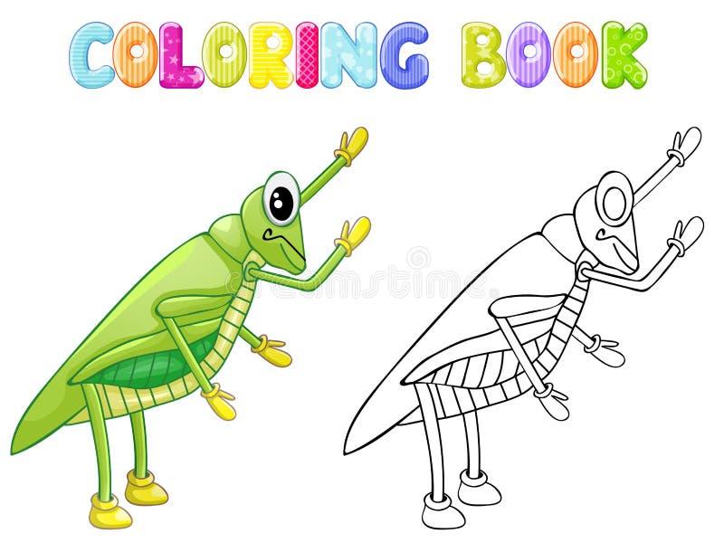 Insetto del cricket di coloritura royalty illustrazione gratis