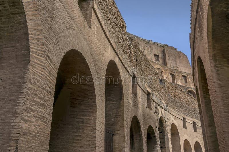 Insida av Colosseum arkivbild