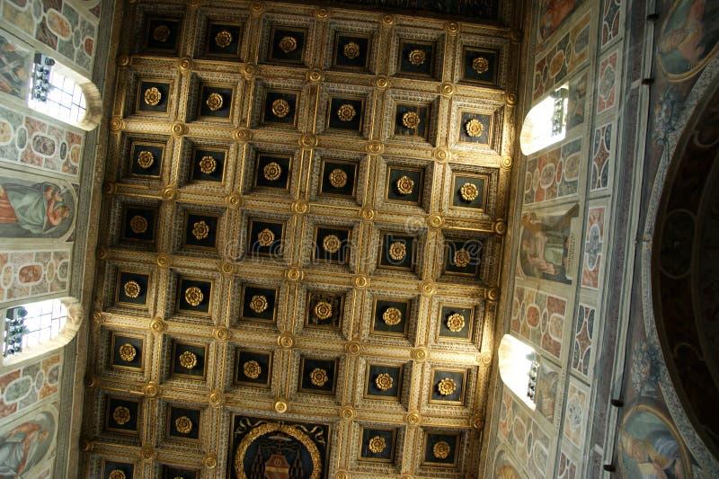 Inside abbey Farfa stock photography