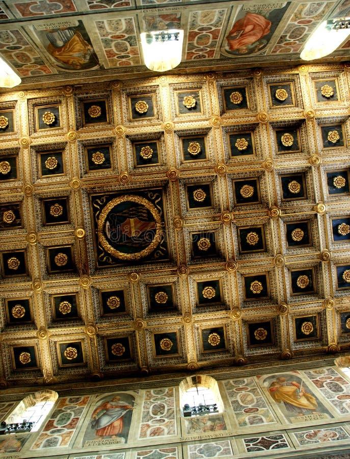 Inside abbey Farfa royalty free stock photos