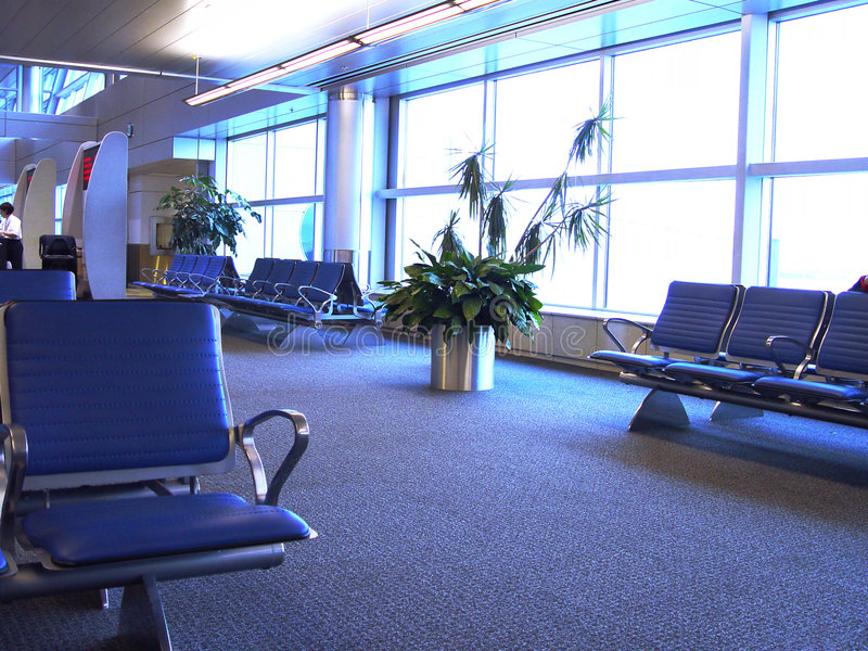 Download Inside an Airport stock photo. Image of seats, area, inside - 159666