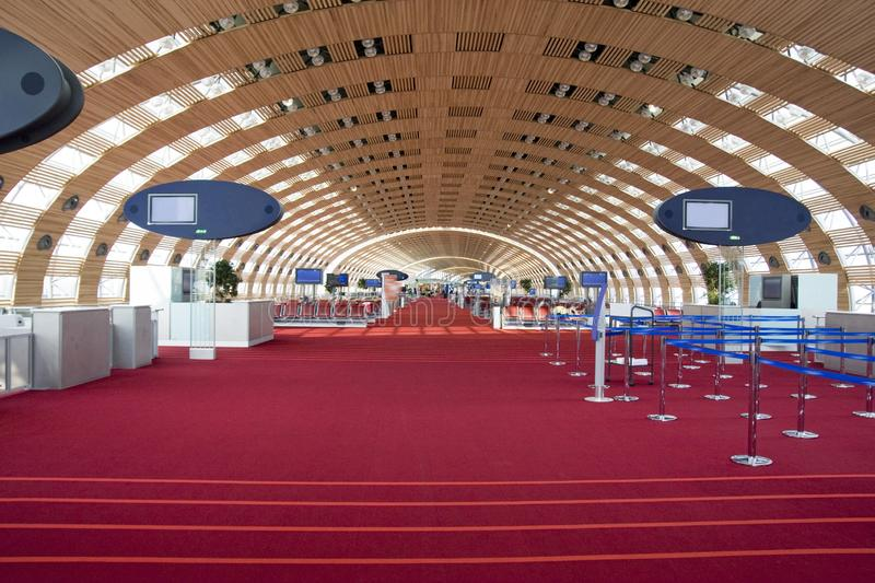 Charles de Gaule Airport. Inside the airport you have access to various accommodations, a place to rest while waiting for your flight stock images