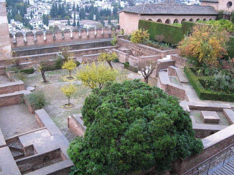 Inside the alhambra palace royalty free stock images