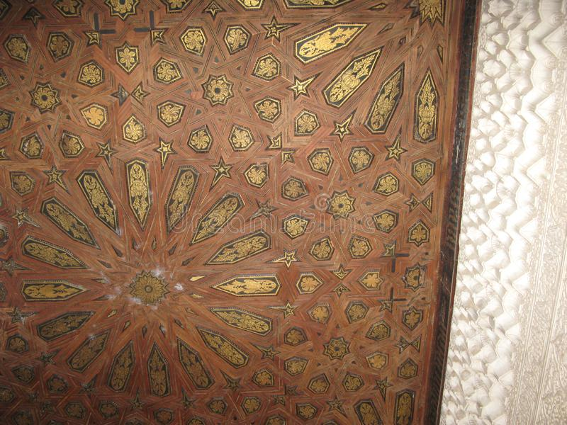 Inside the alhambra palace royalty free stock photography