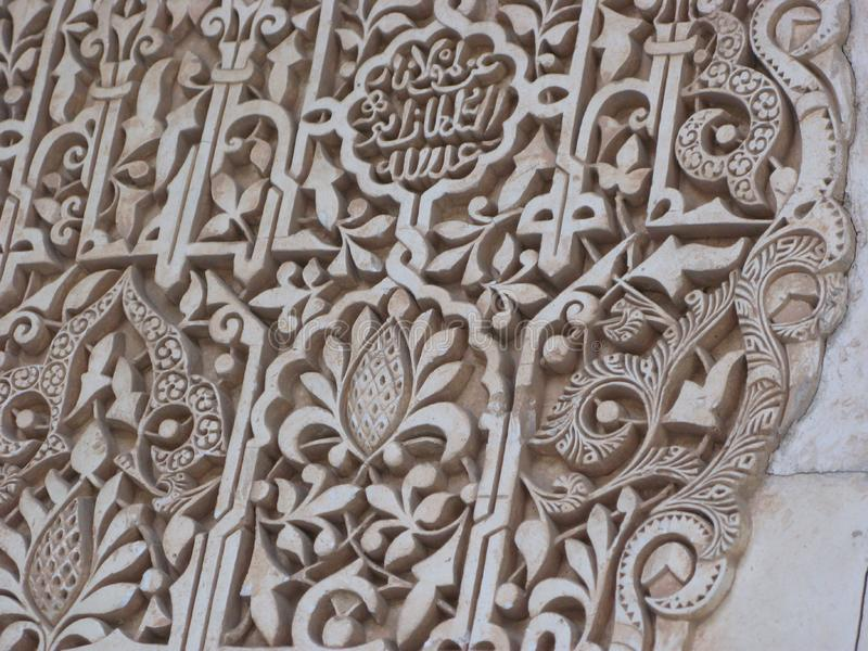 Inside the alhambra palace stock photography