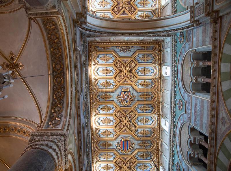 Inside Altamura Cathedral. Perspective of Inside Altamura Cathedral royalty free stock images