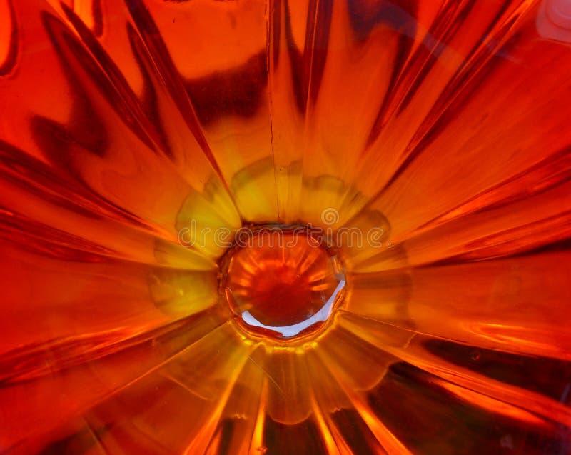 Inside Amberina Glass 3 royalty free stock image