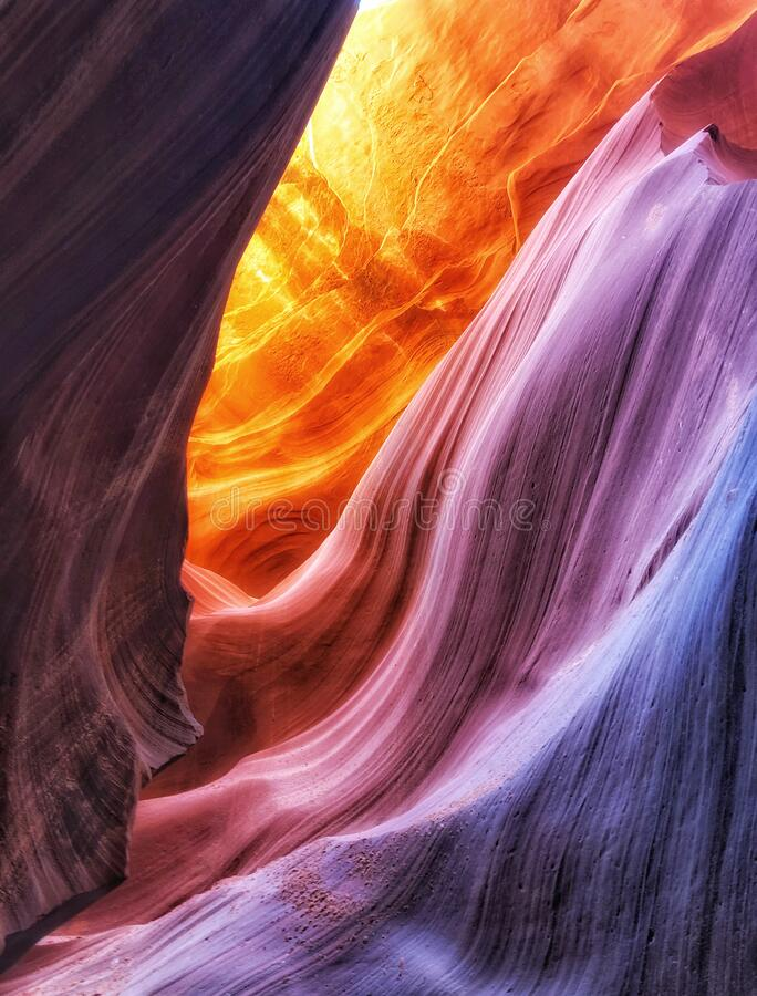Inside Antelope Canyon royalty free stock photos