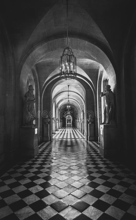 inside architecture of castle Versailles royalty free stock photography