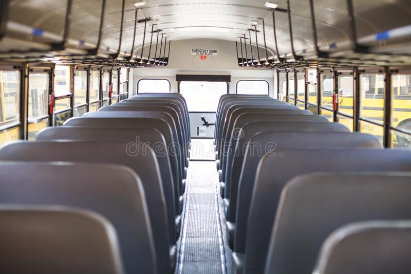 Inside autobus szkolny obrazy royalty free