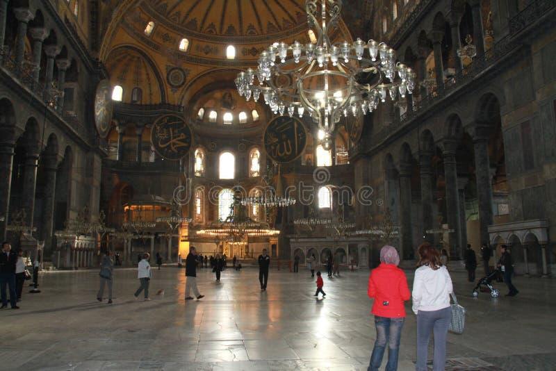Inside Aya Sophia museum in Istanbul, Turkey royalty free stock photography