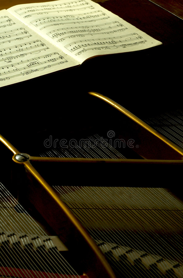 Download Inside A Baby Grand 3 stock photo. Image of grand, pattern - 1721924