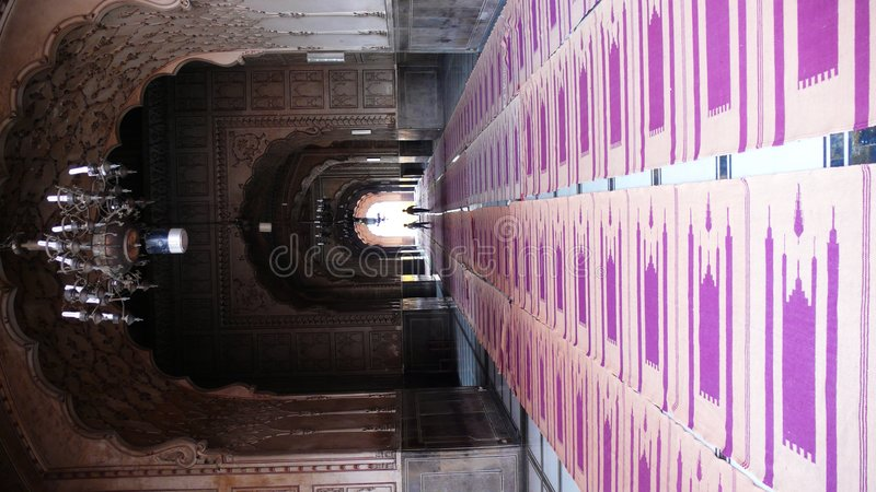 Inside the Badshahi Mosque stock photos