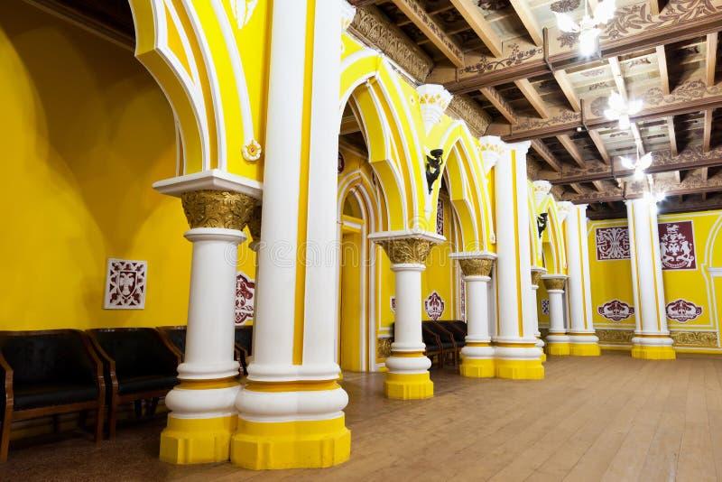 Inside Bangalore Palace stock image
