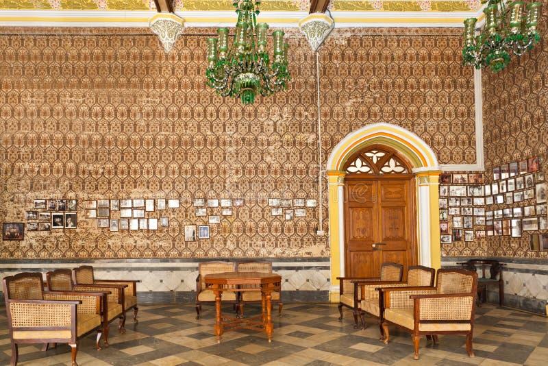Inside Bangalore Palace. Bangalore, India stock photos