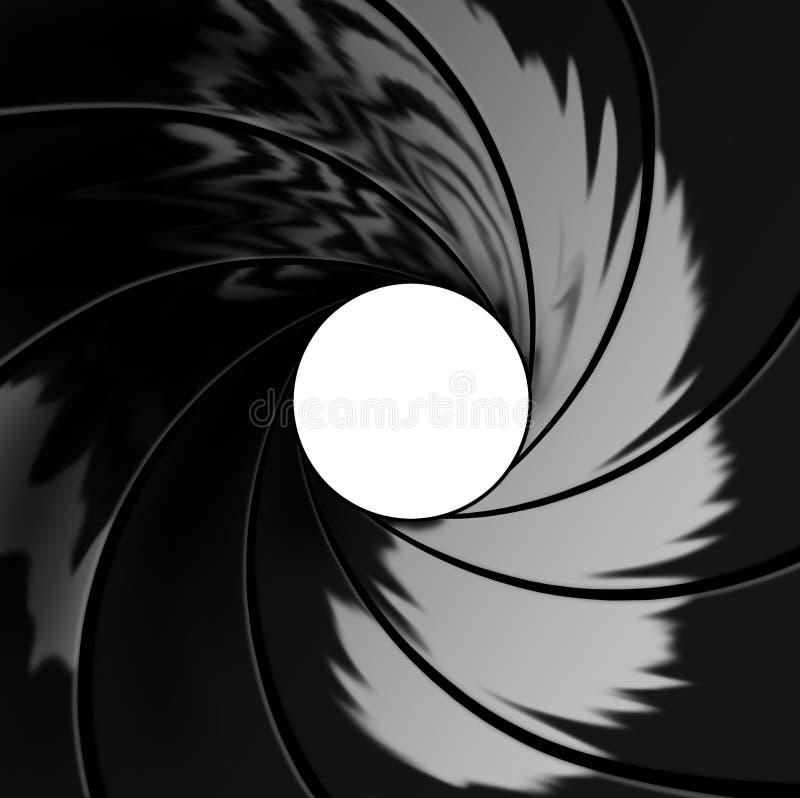 Inside barrel illustration stock photo