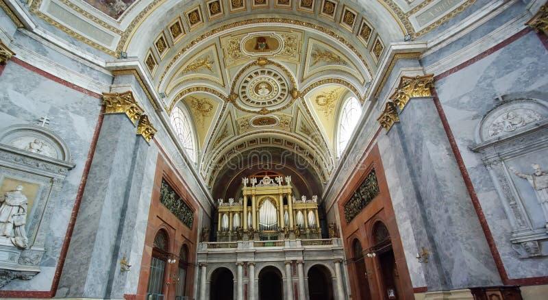 Inside basilica royalty free stock photo