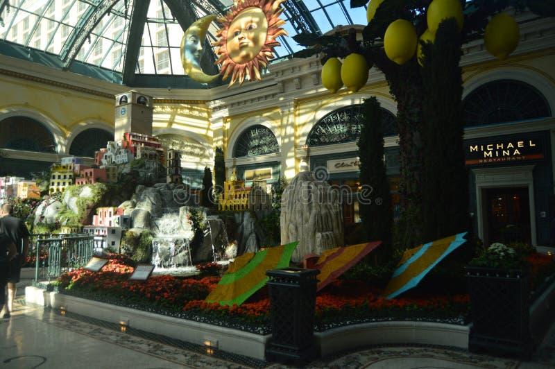 Inside Bellagio Hotel On The Las Vegas Strip. Travel Vacation. June 26, 2017. Las Vegas Strip, Las Vegas Nevada USA,EEUU royalty free stock image
