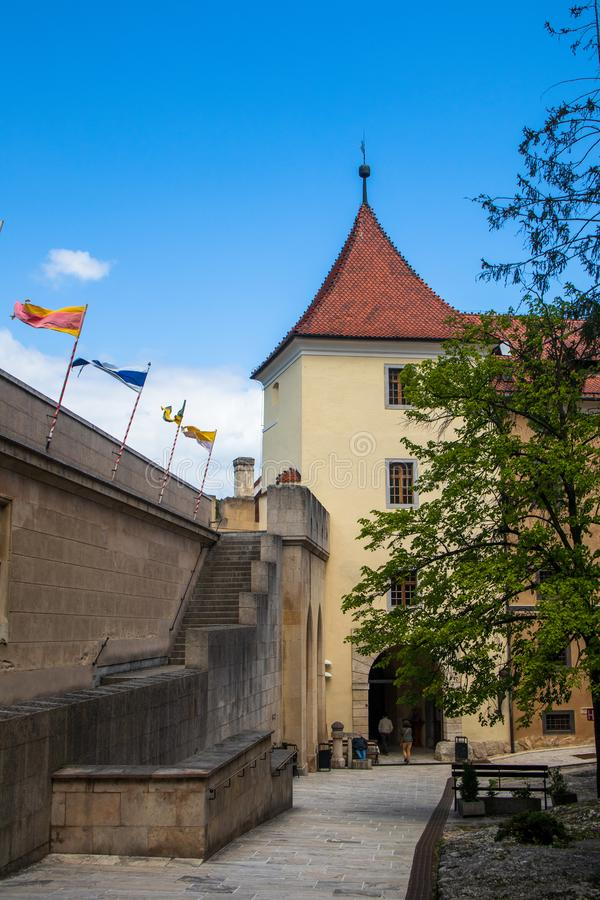Inside of Bojnice medieval castle, UNESCO heritage in Slovakia stock photography