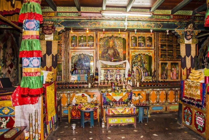 Inside the bon monastery stock photo