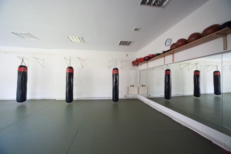 Inside boxing gym stock photo