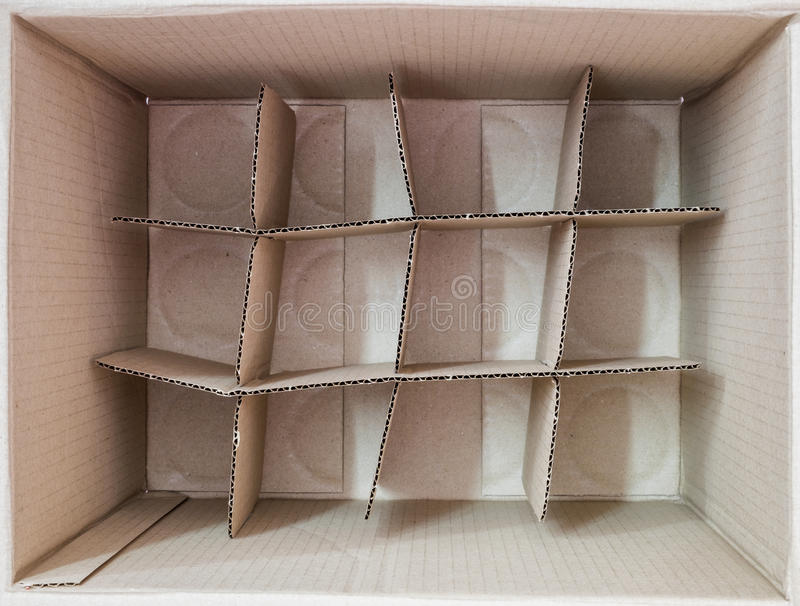 Inside brown box packaging square royalty free stock photography
