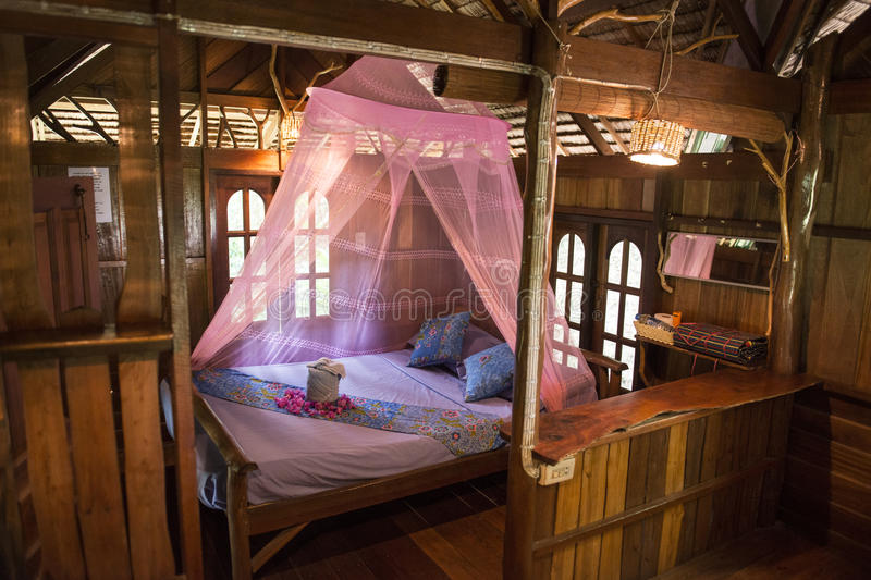 Download Inside Of Bungalow Or Traditional Thai Wooden House Thailand Stock Image