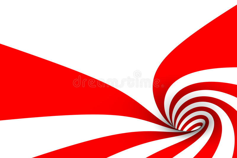 Inside a candy cane vector illustration