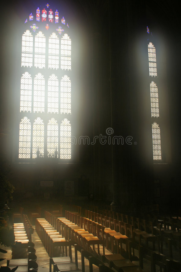 Inside Canterbury Cathedral royalty free stock image