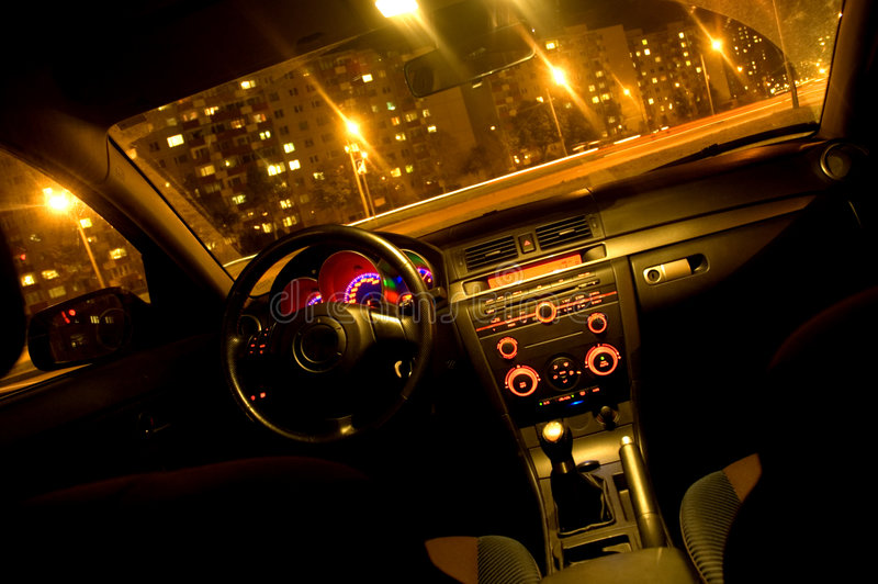 Inside Of A Car Stock Photography