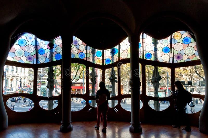 Inside of Casa Batllo stock photo
