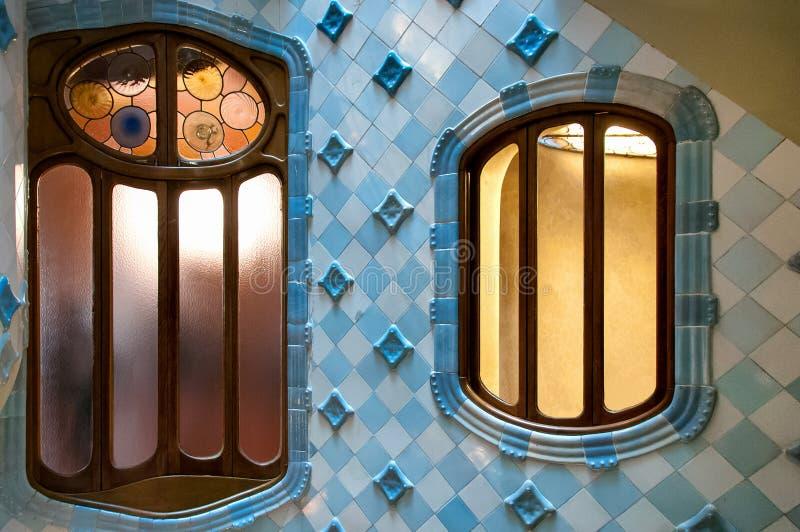Inside of Casa Batllo. Historical Casa Batllo in Barcelona, inside view. Photo taken on: November, 2015 stock photos