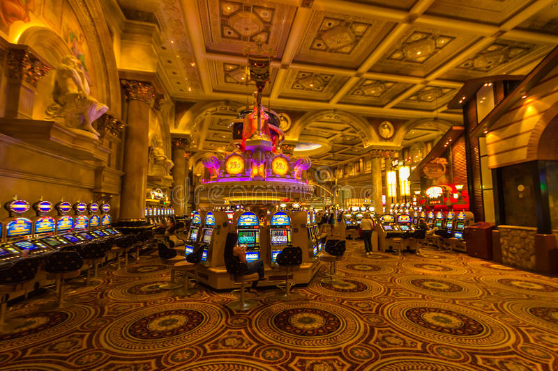 Inside Casino in Las Vegas royalty free stock photography