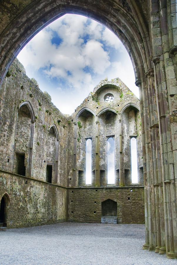 inside the castle Rock of Cashel royalty free stock images