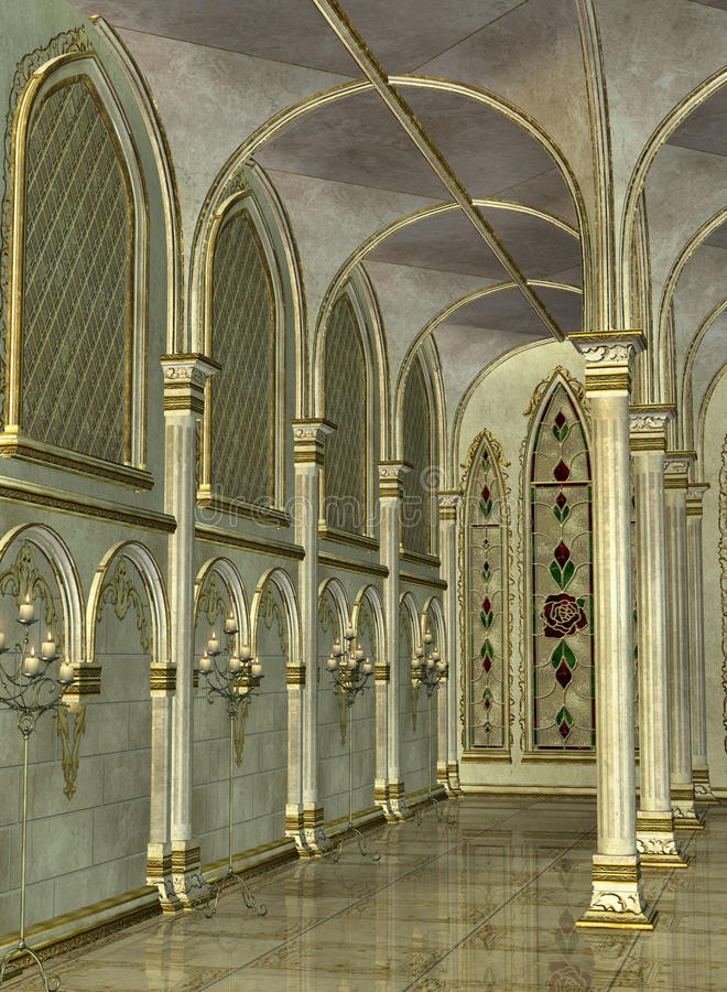 Download Inside Cathedral stock illustration. Image of ornament - 11853069