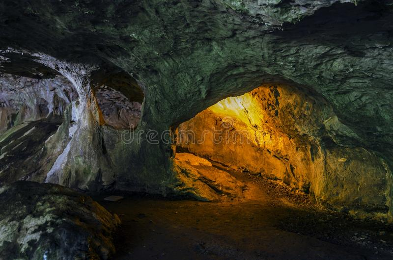 Inside the cave stock image