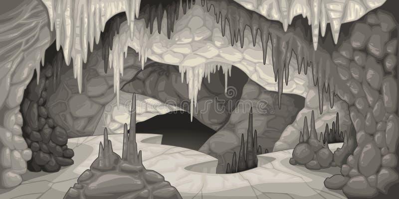 Inside the cavern. Cartoon and vector illustration vector illustration