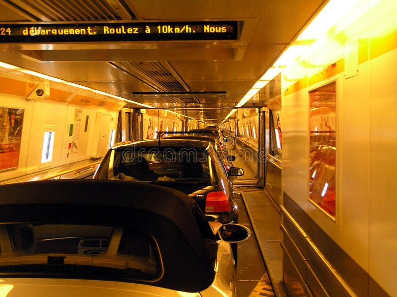 Download Inside the Channel Tunnel stock photo. Image of france, passageway - 31176